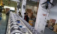 Production line for making Side Channel Blower